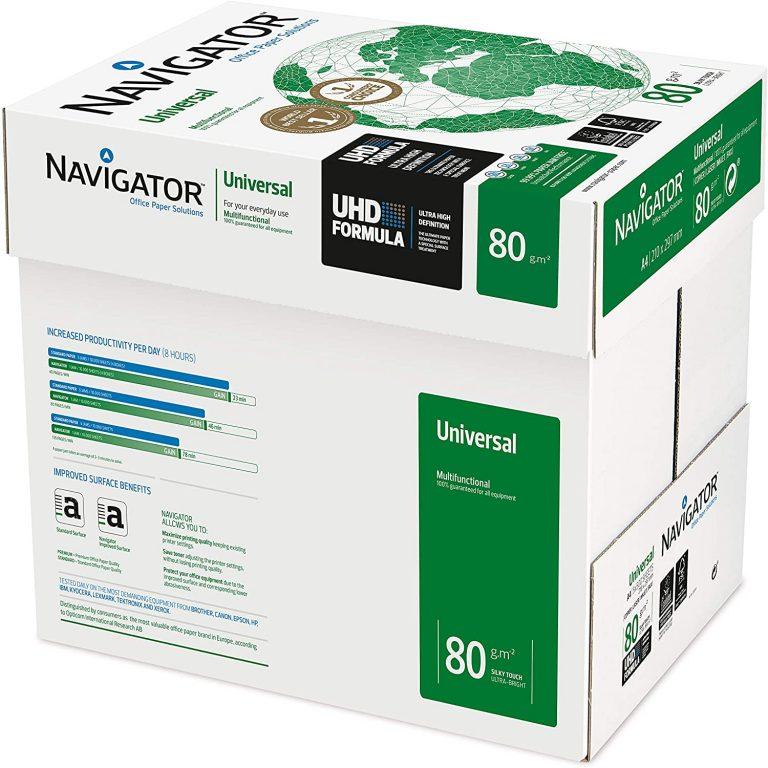 Navigator 80GSM Paper (case of 5 reams, 2,500 sheets)