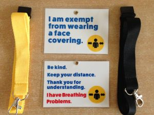 Breathing Problems Face Covering Exemption Card