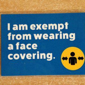 Face Mask Exemption Pocket Card