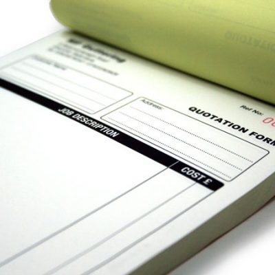 Carbonless business forms